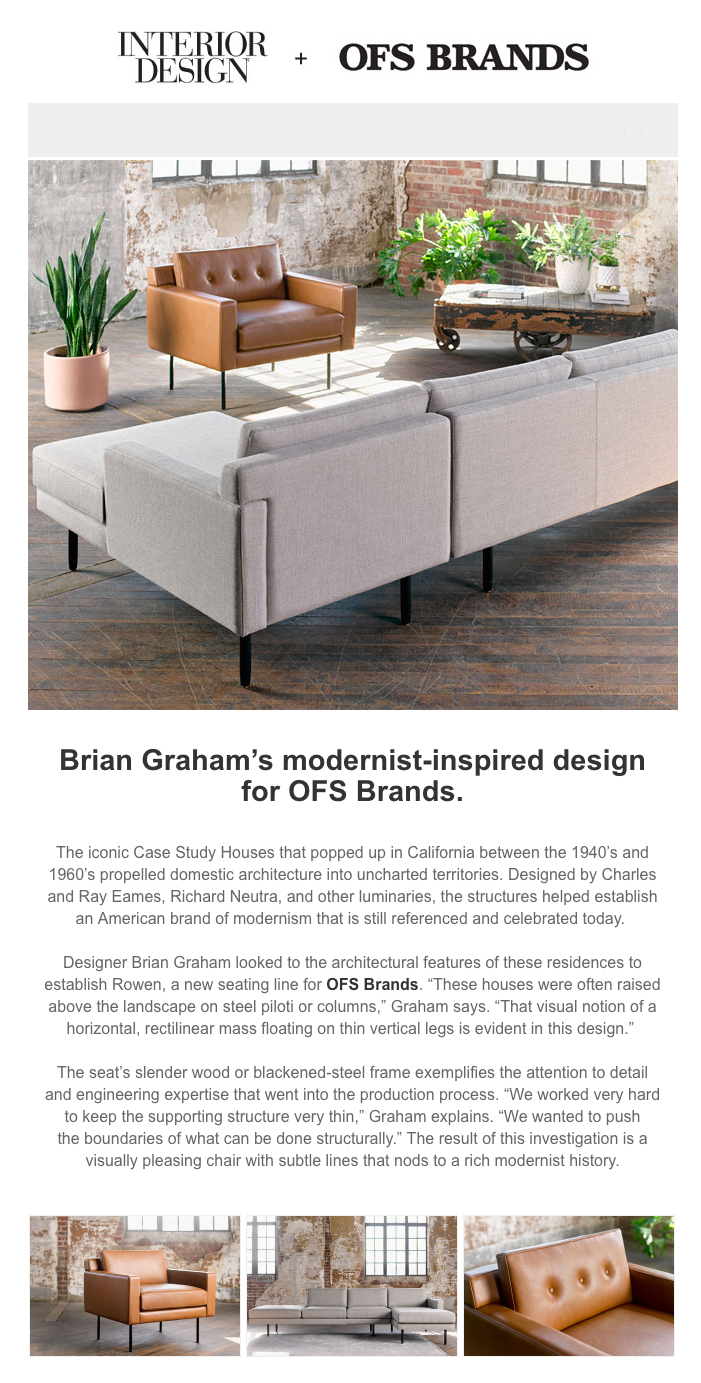 OFS Brands Featured By Interior Design