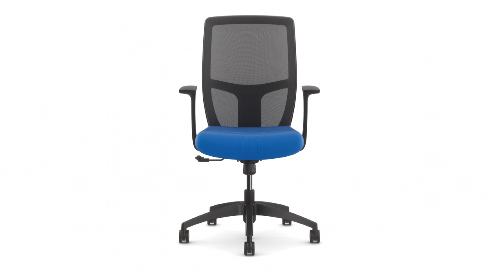 airus is light in scale big on comfort and just right on aesthetic value breathable mid and high back mesh options coupled with integrated back height - Light Blue Desk Chair