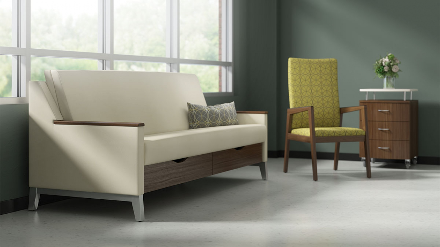 Incroyable Reverie Is A Sleepover Sofa For Healthcare Spaces That Offers Supreme Form  And Function. Thoughtfully Designed With Multiple Arm Styles, ...