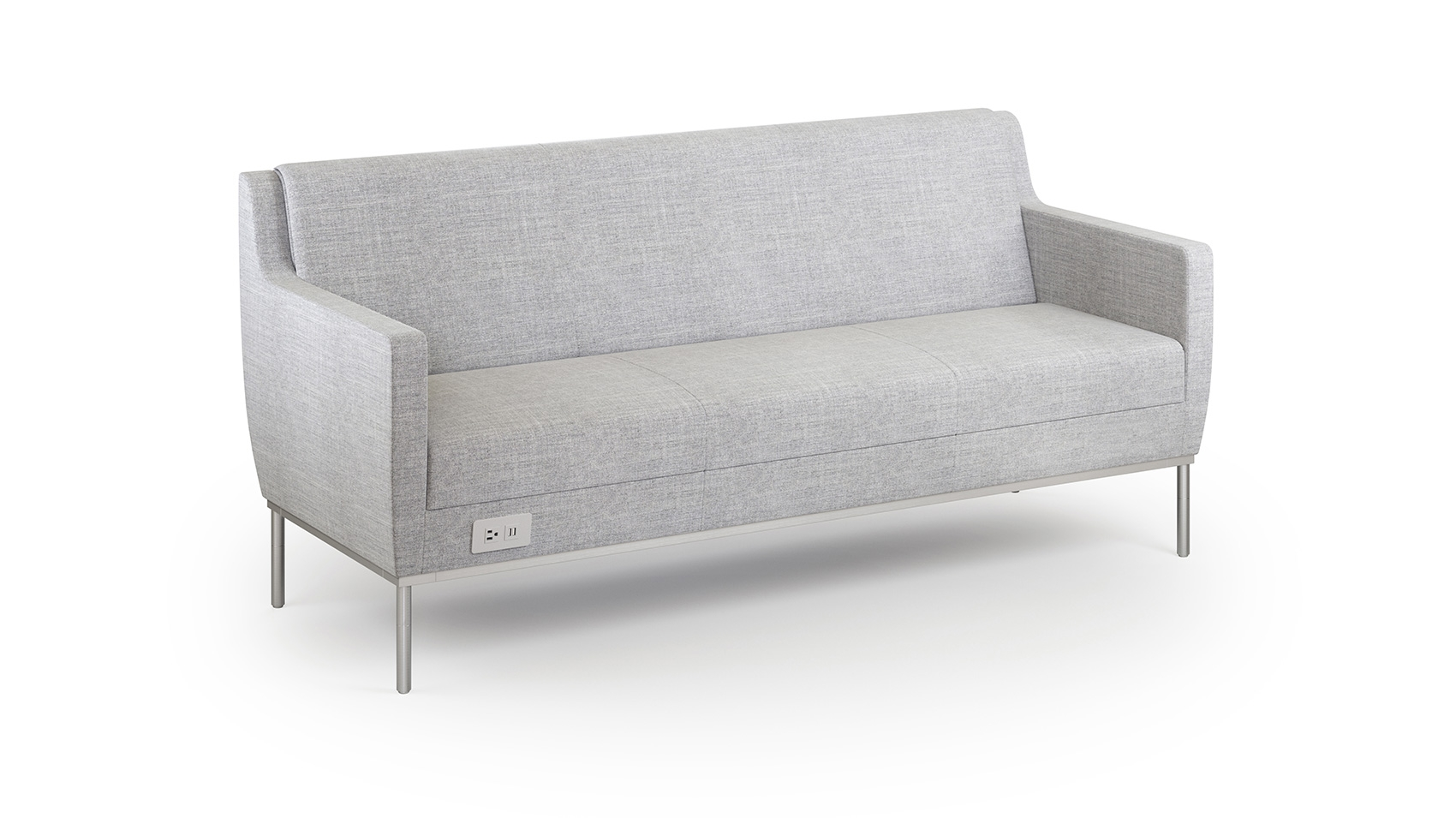 The Dess Collection Includes Low Arm And High Arm Versions Of A Chair,  Loveseat And Sofa With A Unique Rollover Back Cushion Detail And Sleek  Metal ...